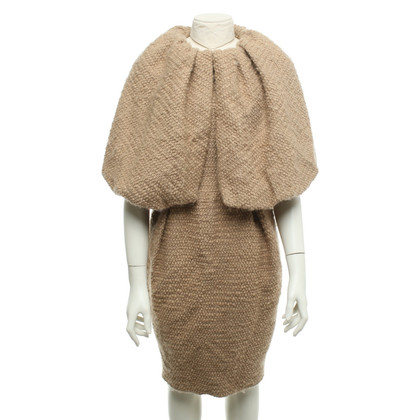Giambattista Valli Bouclé dress in beige
