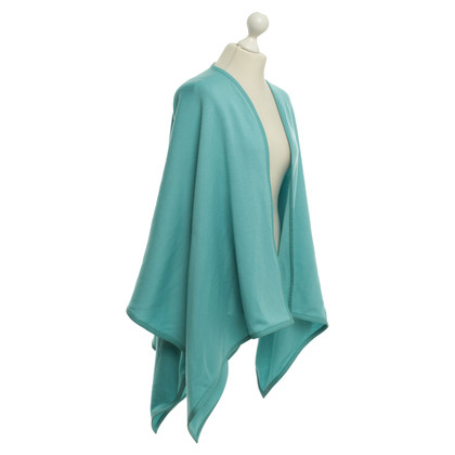 Loro Piana Poncho with leather edges