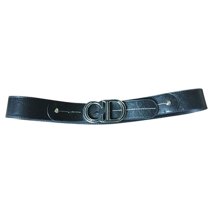 Christian Dior Leather Belt logo