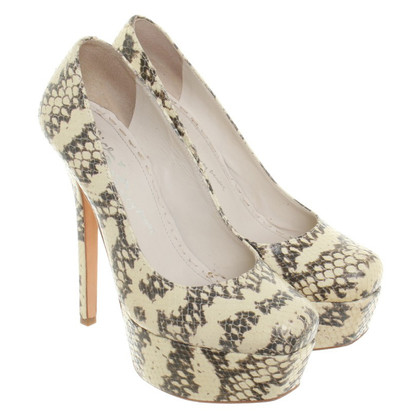 Alice + Olivia Pelle di serpente di altopiano pumps