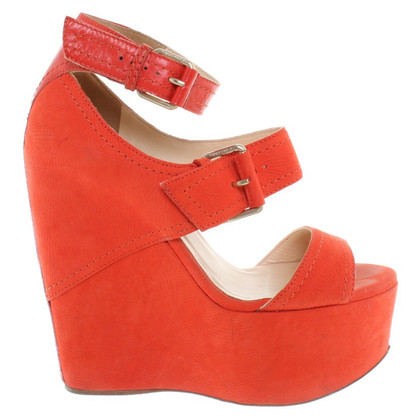 Jimmy Choo Wedges in Orange