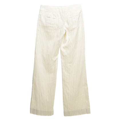 John Galliano Broek in crème