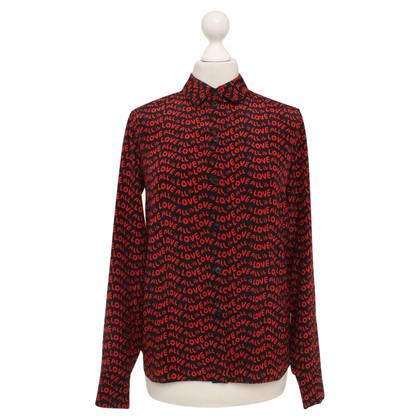 Stella McCartney Silk blouse in red / black