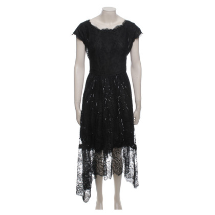 Oscar de la Renta Black evening dress with lace