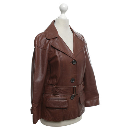 Strenesse Blue Leather jacket in brown
