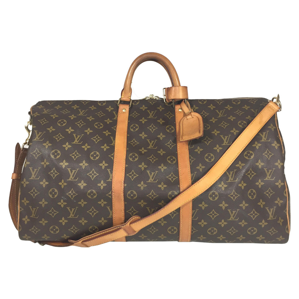 louis vuitton keepall 55 monogram canvas inkl schulterriemen second hand louis vuitton. Black Bedroom Furniture Sets. Home Design Ideas