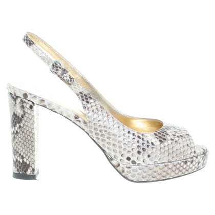 Walter Steiger Sandals made of Python leather