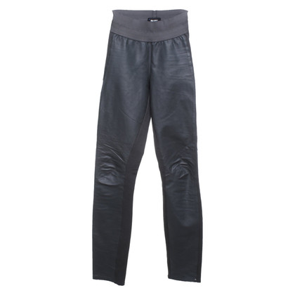 Paige Jeans trousers with leather trim