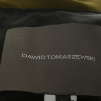 Dawid Tomaszewski Kleid mit Materialmix
