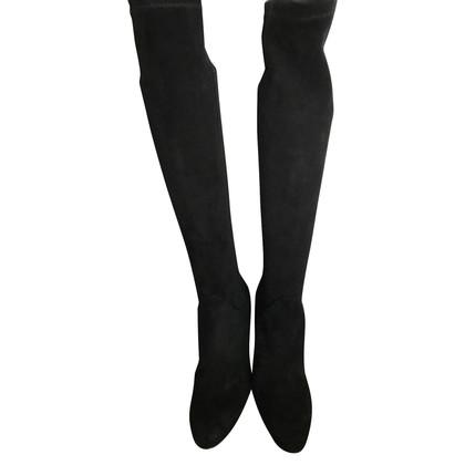 Unützer Schwarze Wildleder-Stiefel
