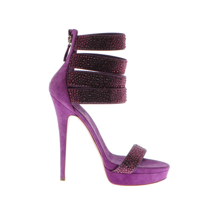 Casadei Purple Casadei heels with Rhinestones