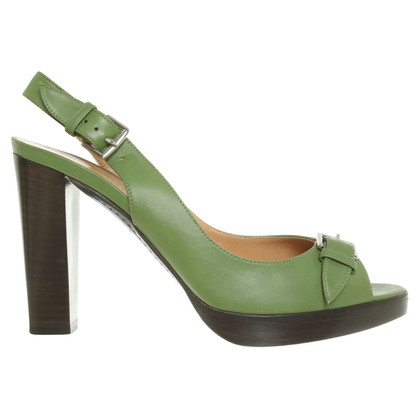 Hermès Sandali in verde