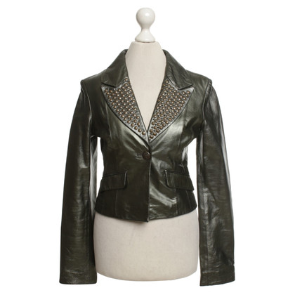 Faith Connexion Leather jacket in green