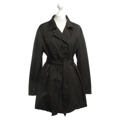 René Lezard Trench coat in anthracite