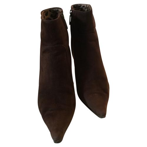 online store 0b420 dbe98 Dolce & Gabbana Stiefeletten aus Wildleder in Braun - Second ...