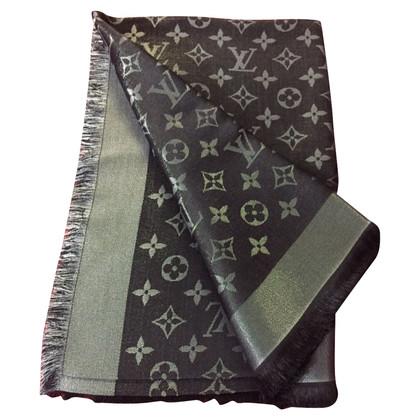 Louis Vuitton Panno Monogram lustro in nero / argento