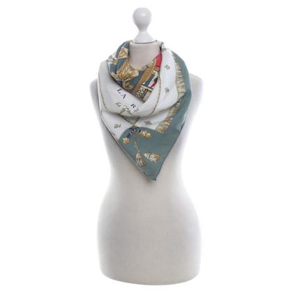 Hermès motifs écharpe de soie