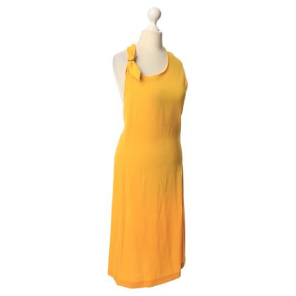 Max Mara Halter jurk in geel