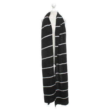 Stefanel Scarf with striped pattern