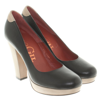 Paco Gil pumps in nero / beige
