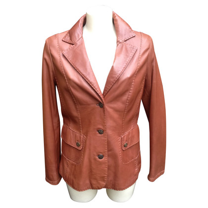 Arma leather blazer