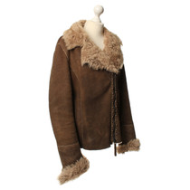 Other Designer Lamb leather jacket in Brown