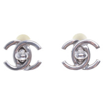 Chanel Clip earrings with logo