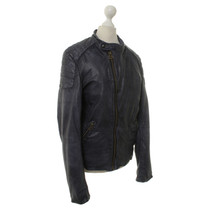 Other Designer Scotch & soda - leather jacket in blue