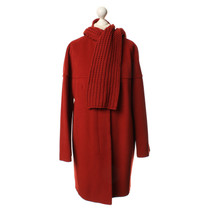 Akris Coat with scarf in red