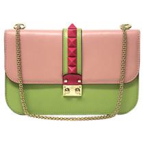 "Valentino ""Lock Shoulder Bag"" in tricolor"