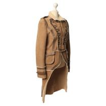 Dolce & Gabbana Leather coat with fur usage