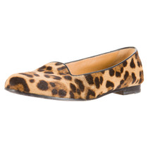 Gucci Pony fur slippers with Leopard print